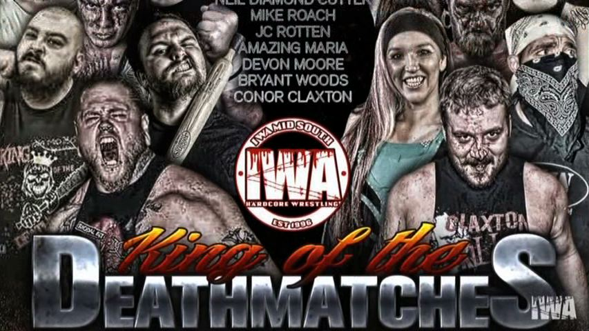 2018 @IWAMidSouth King OF The Death Matches now on sale!!! Blu-ray/DVD: ow.ly/Q7TD30k81Pn  MP4 & VOD versions coming soon #kingoftheindies