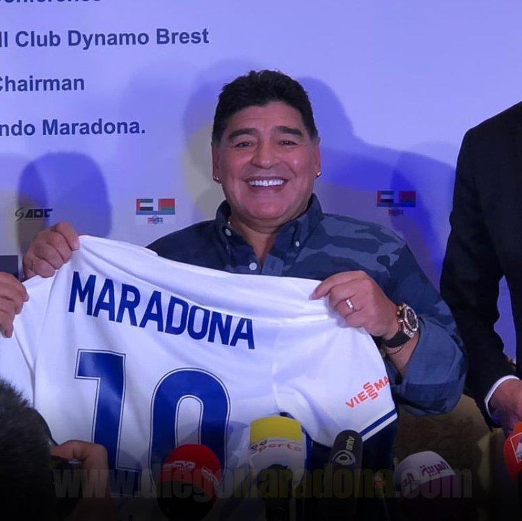 #Bielorrusia Maradona fue presentado como presidente del Dinamo Brest: bit.ly/2GGeApH
