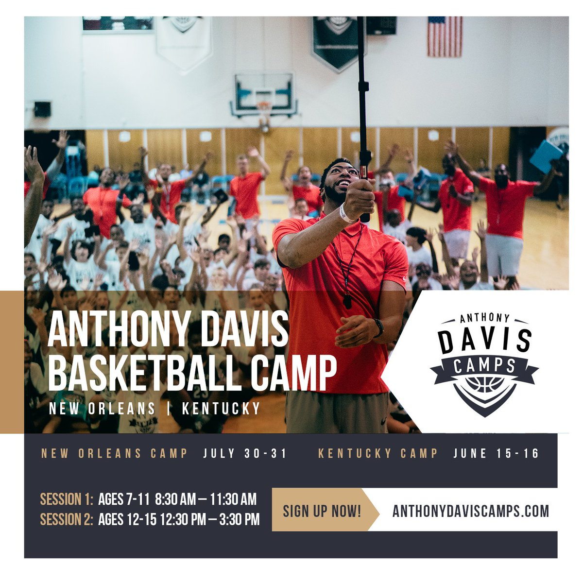 Calling all kids in NOLA and Lexington!! Who wants to put in work with me? Happy to announce registration for my camps in both NOLA and Lexington are now open. Register at anthonydaviscamps.com!