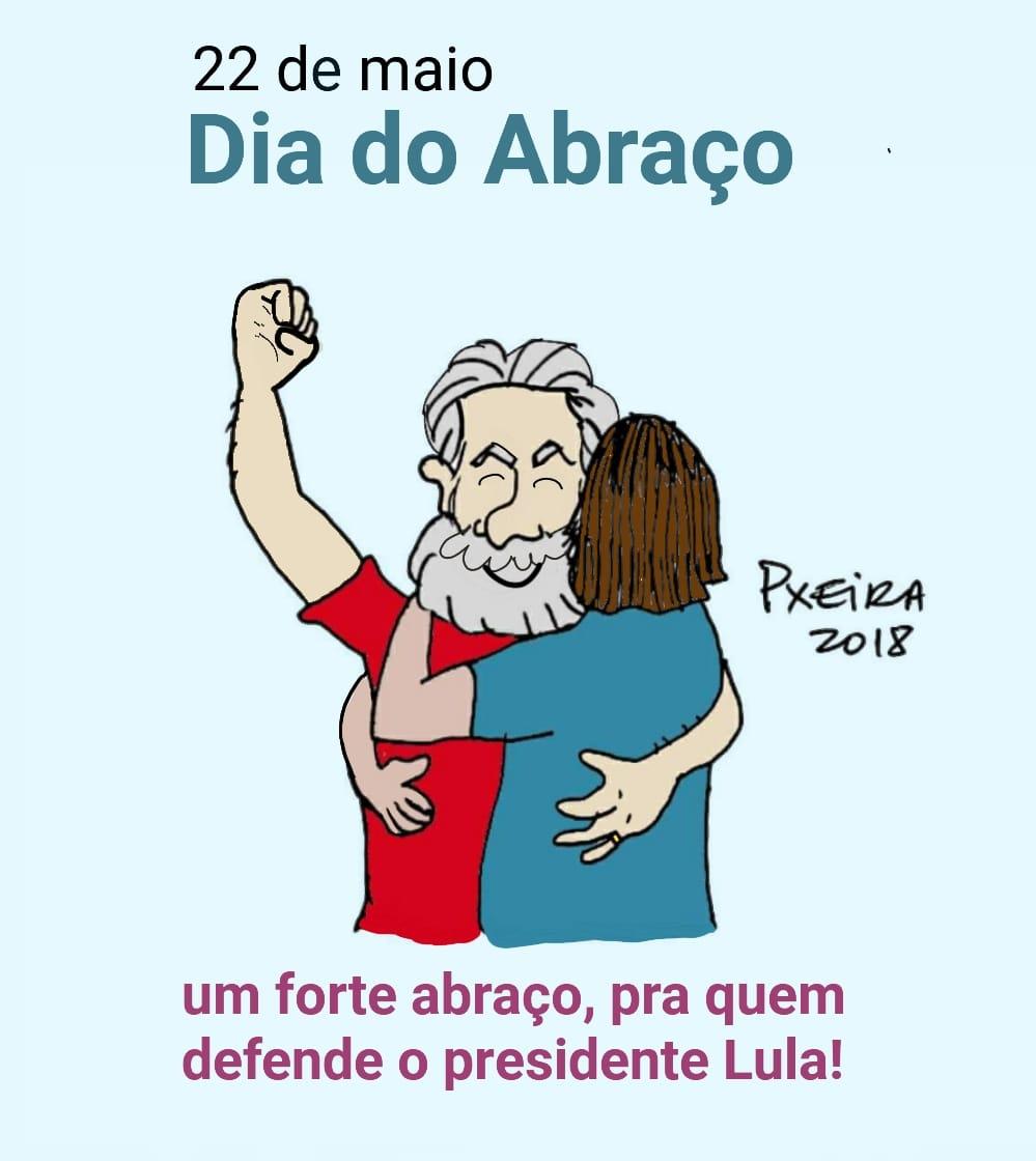 Charge de Pxeira pelo #DiadoAbraço