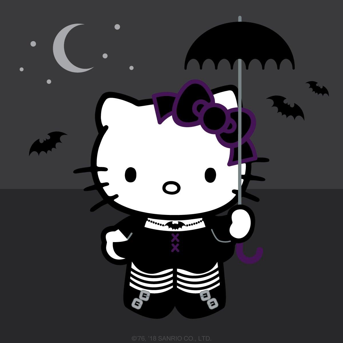Celebrating in black fashion today! #WorldGothDay #HelloKitty