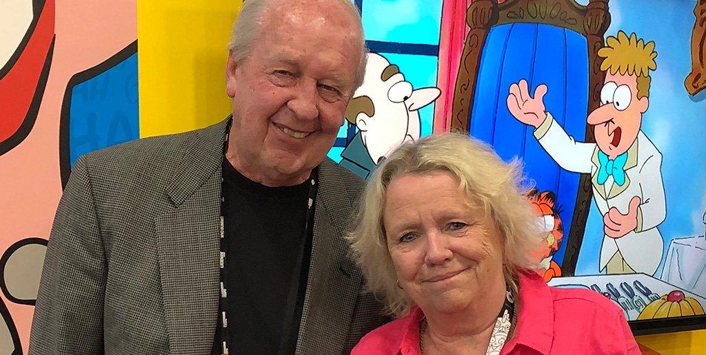 @TotalLicensing My main man, cartoonist Jim Davis, was interviewed by Total Licensing editor Francesca Ash at @licensingexpo in Las Vegas today. #LicensingExpo