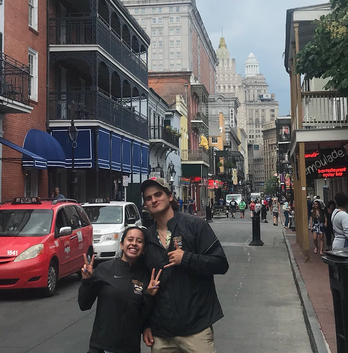 The eagles have landed for the NAIA Nationals Championships  Quick stop to visit the historic Bourbon Street, New Orleans before driving to Gulf Shores, Alabama  #CreatingMemories #TheRMUExperience<br>http://pic.twitter.com/YSC3sbb6Jm