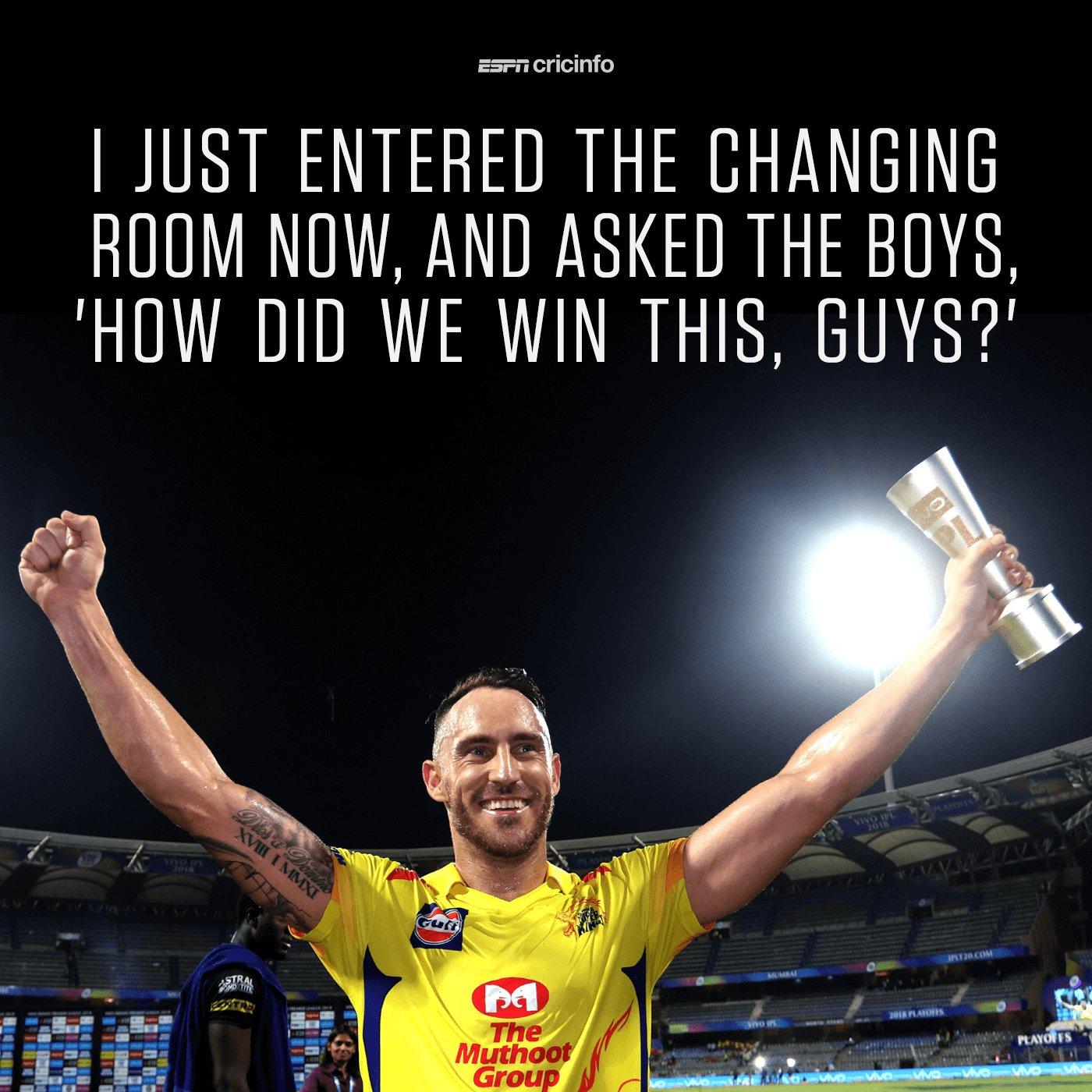Chennai comeback ��s   https://t.co/s86Pr319Am #SRHvCSK #IPL  #Qualifier1 https://t.co/mp7T75jBW1