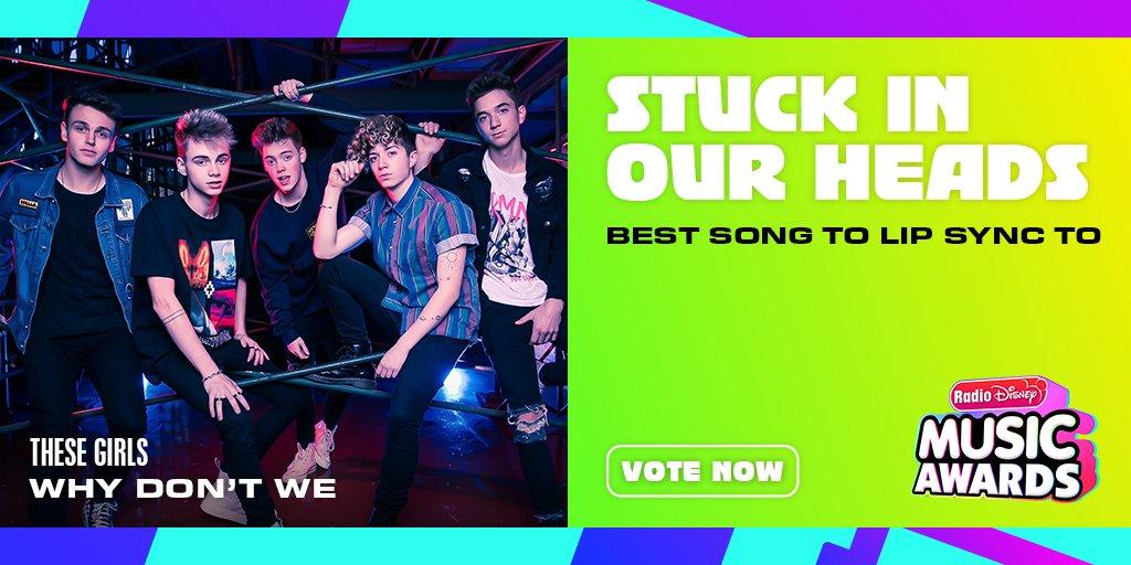 "RT to vote for #WhyDontWe ""These Girls"" for #StuckInOurHeads! @radiodisney #RDMA @whydontwemusic"