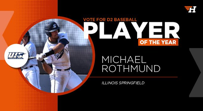 RT @HEROSportsBSB: .@miggyroth10 hit 2️⃣0️⃣ doubles & 2️⃣0️⃣ HRs - Should he be Player of the Year?  VOTE: #D2Baseball 2018 Player of the Y…