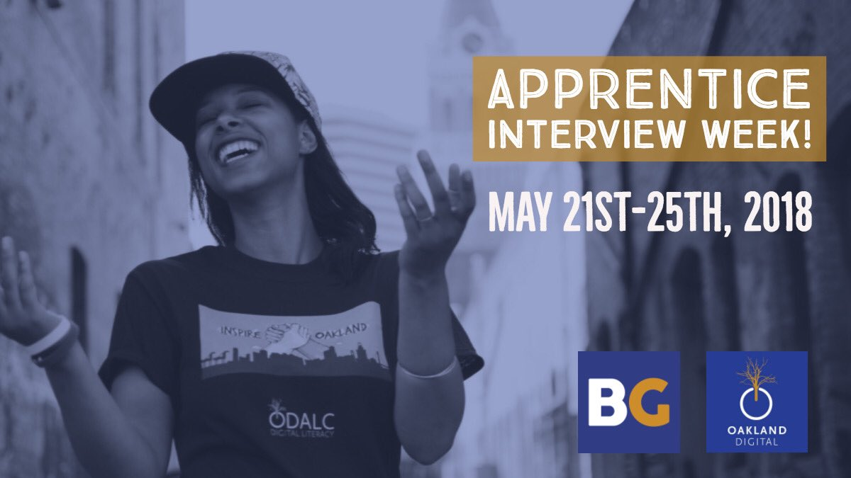 This week we are taking in interviews for @OaklandDigital summer #apprenticeship that focuses on UX/UI Design for #BRIDGEGOOD.com Looking forward to see who will join us this summer! <br>http://pic.twitter.com/xGxsyBIIpX