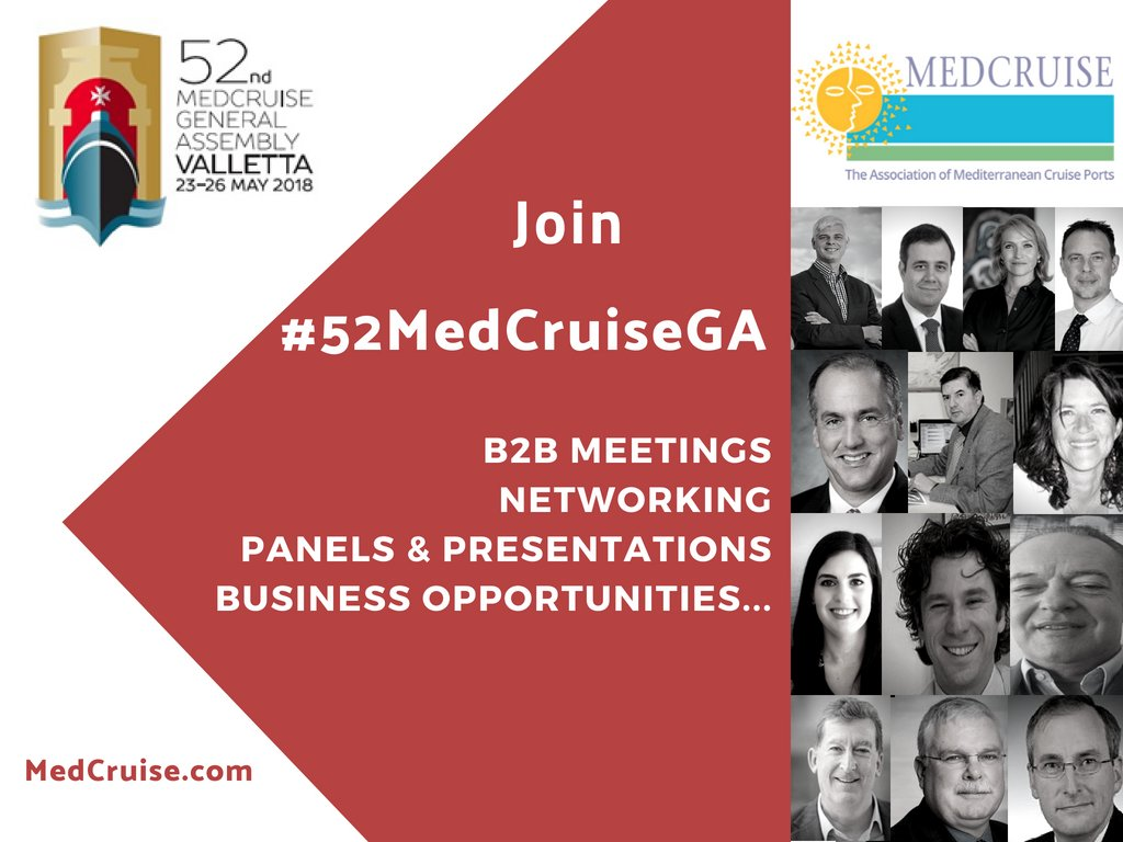 Αποτέλεσμα εικόνας για The 52nd MedCruise General Assembly shaped the future of the Med cruise industry #PortsTogether