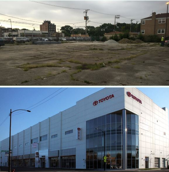 Today S Transformationtuesday Is Centered On Our Recently Completed Chicago Northside Toyota Dealership What Was Once An Old And Empty Lot