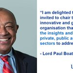 Image for the Tweet beginning: Exciting news! Lord Paul Boateng,