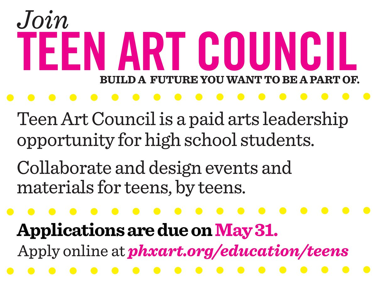 Teen art council are you have hit