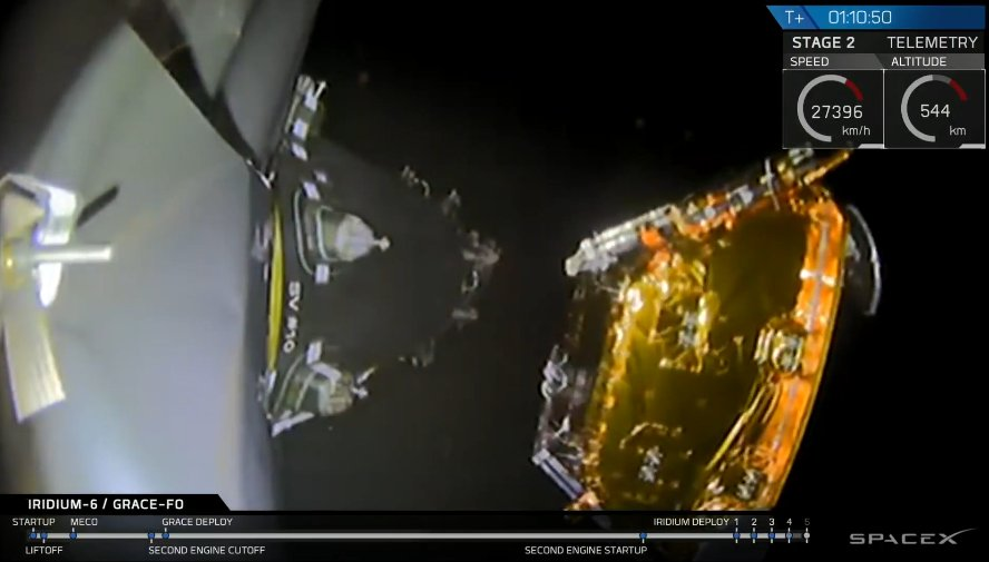 Successful deployment of 5 @IridiumComm NEXT satellites to low-Earth orbit confirmed.