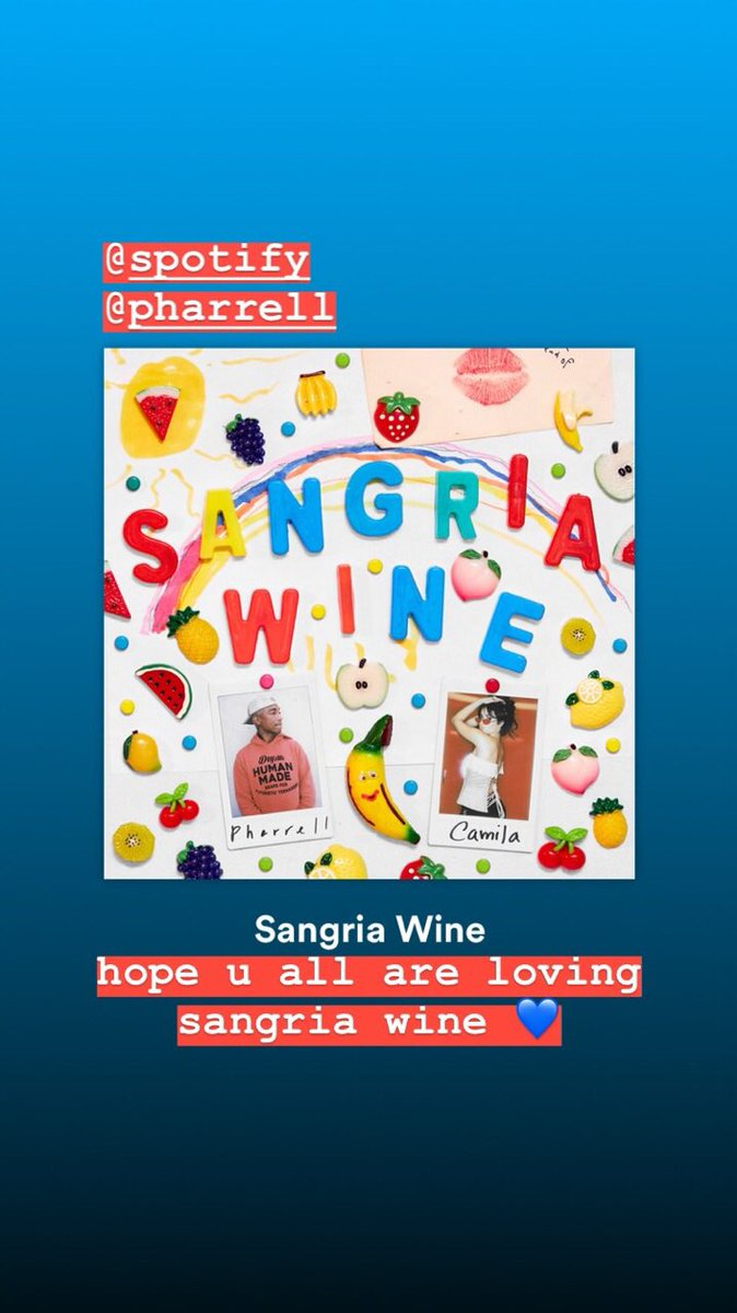 do the #sangriawine 💃🏻🍷¿qué, qué? @spotify https://t.co/cR7DeIqsbl