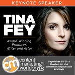 Comedy icon Tina Fey will take center stage when she keynotes this year's Content Marketing World! https://t.co/MPhpixQMJb #CMWorld