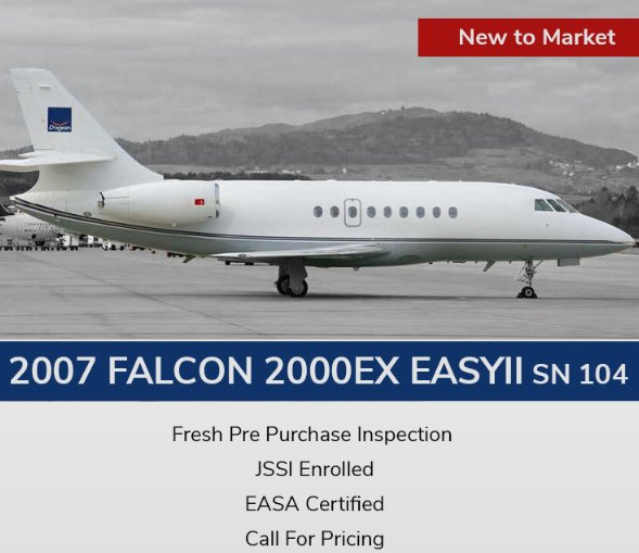 New to Market - 2007 #Falcon #2000EX EASyII for sale at @JetHQAv and @Hatt_Aviation  Fresh Pre Purchase Inspection - JSSI Enrolled - EASA Certified View full specs at  http:// ow.ly/OyUl30k8gRx  &nbsp;   and schedule your private viewing at #EBACE18 now! #bizjet #bizav #aircraftforsale <br>http://pic.twitter.com/GQnfZ582bZ