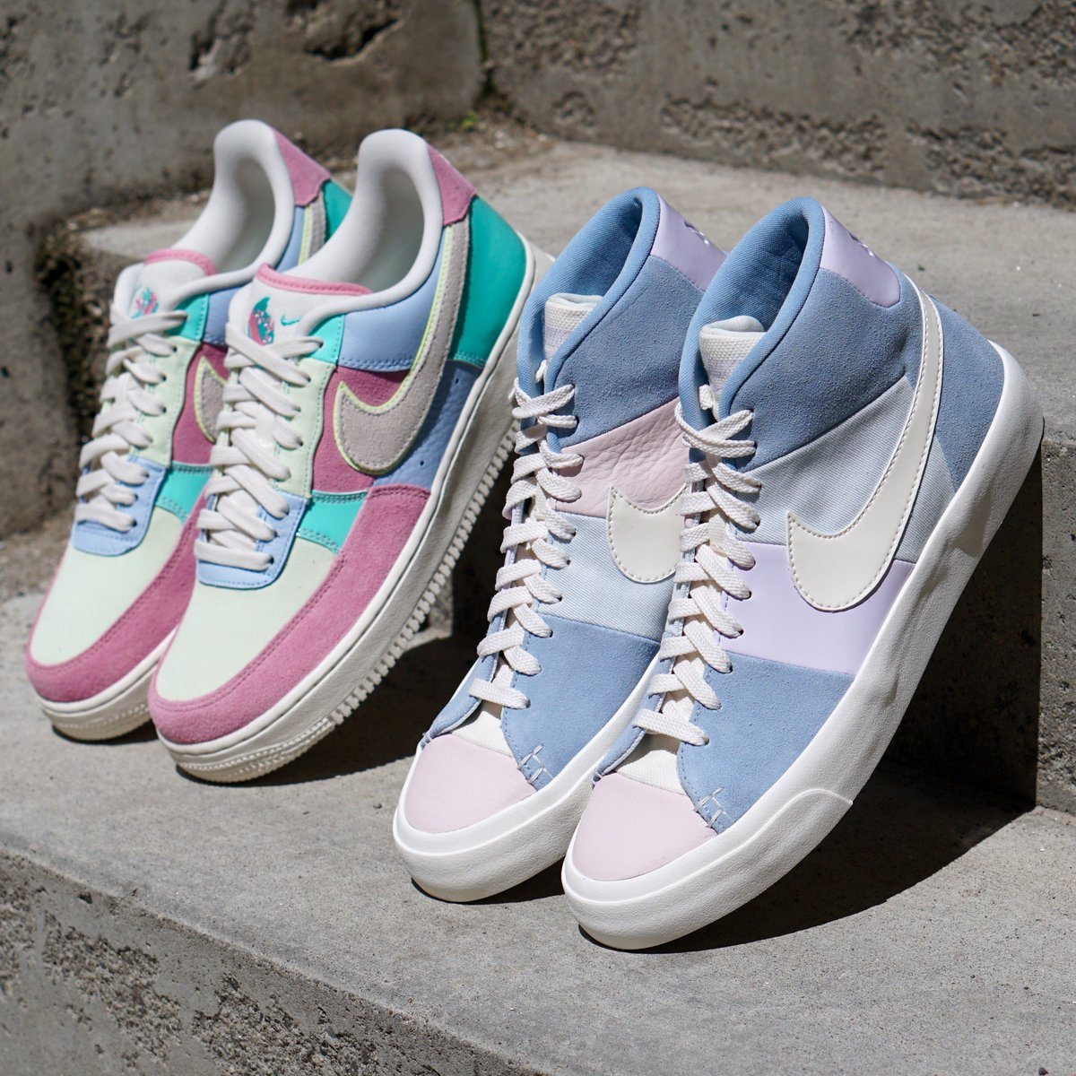 buy popular 393aa 228d5 Nike Air Force 1 Low 07 QS  Nike Blazer Premium QS