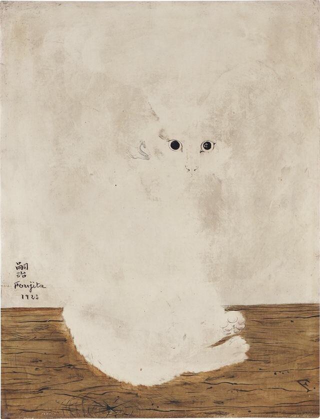 Tsuguharu Foujita- The White Cat