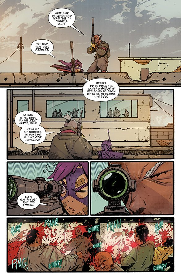 Look at the first 3 awesome pages of #HitGirl #4!  the end of volume 1: #Colombia is out TOMORROW! by @mrmarkmillar and @RLopezOrtiz  the spoiler's free review: https://t.co/QFatiD1Ld2 …