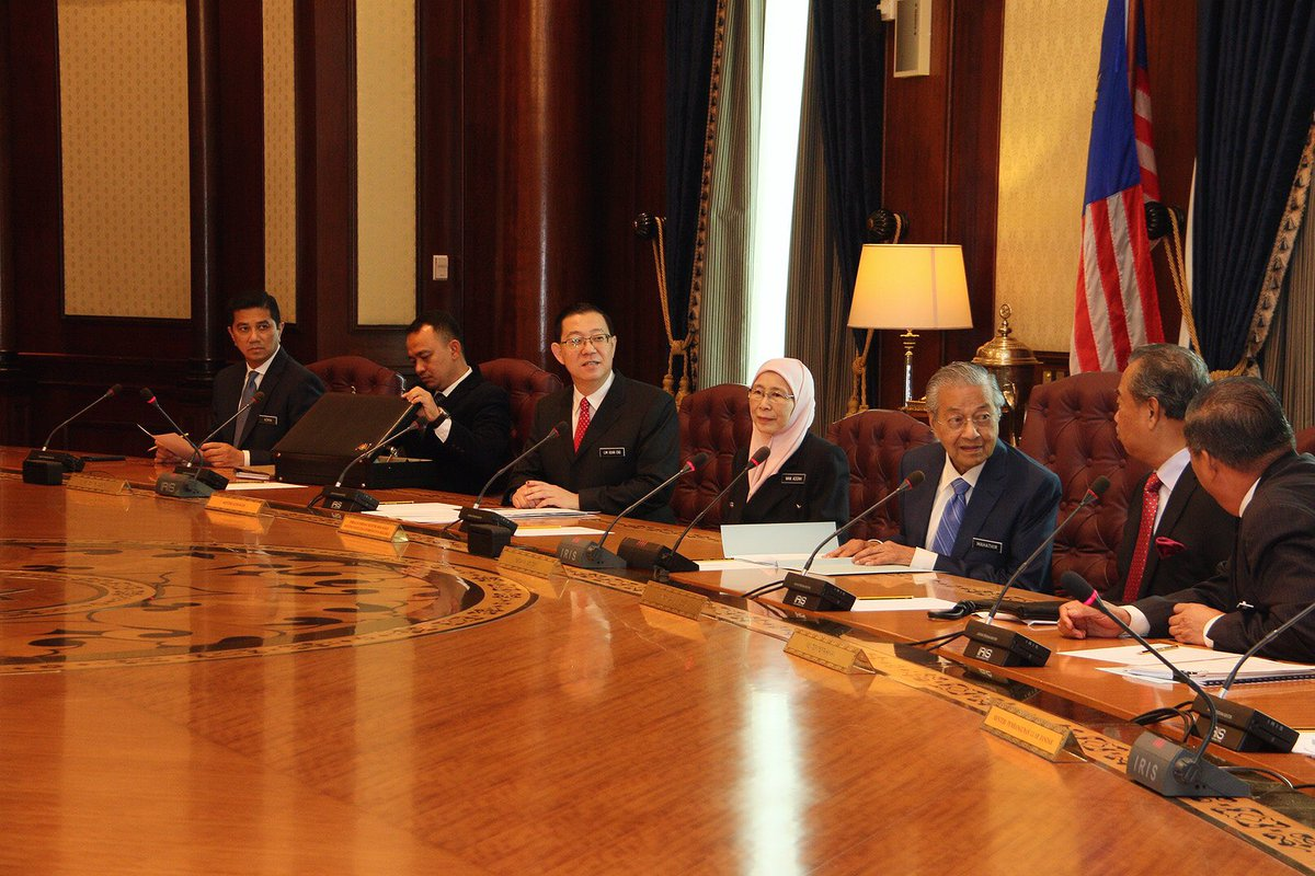 Image result for mahathir and his cabinet