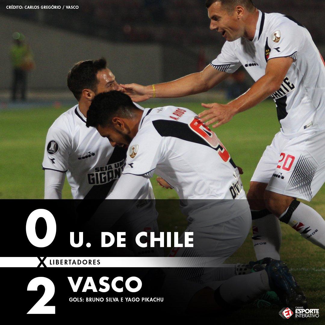 ACABOU! O @vascodagama vence por dois gols de diferença e garante a classificação para a Copa Sul-Americana! #UCHxVAS
