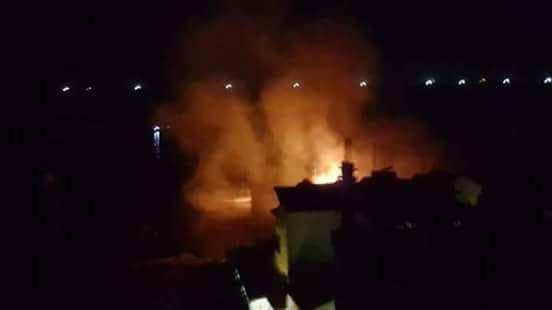 Ketika ini di Gaza (waktu sahur) berlaku pengeboman oleh tentera zionis Israel di kawasan pelabuhan Gaza yang menyebabkan letupan besar.  Semoga Allah melindungi rakyat Gaza.  #AmanPalestin  #RamadanBersamaPalestin