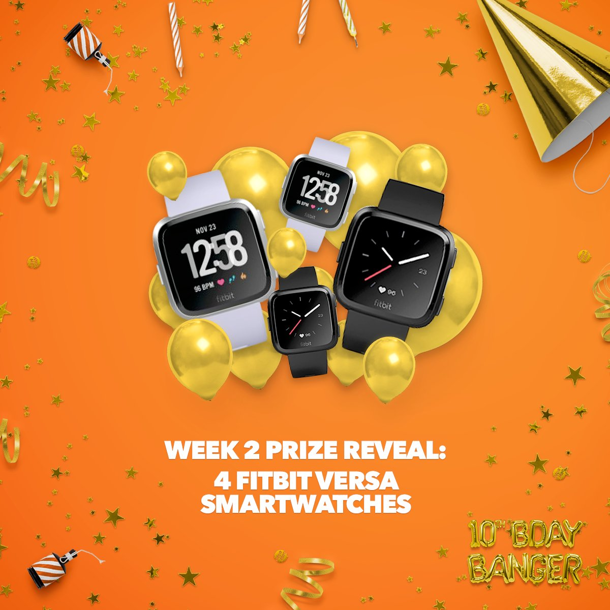 The next prizes revealed in our #birthdaybanger giveaway are four brand new Fitbit Versa smartwatches. Make sure you've applied for your 2018 tax refund to be in to win one! T&Cs apply.  http://www.woohoo.co.nz/birthday  #birthdaybanger #fitspiration