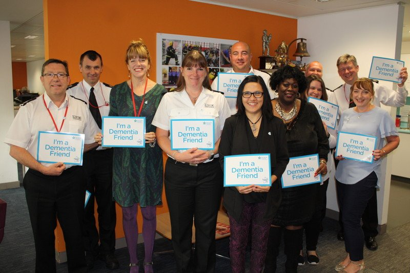 We're committed to becoming one of the most #dementia friendly fire services in the world and are training 1000 firefighters & staff to become    #DementiaFriendshttps://t.co/7h7JJsEjrA#ThisWeek@alzheimerssoc