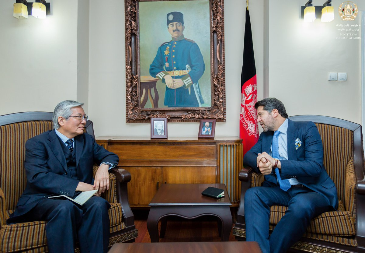 Productive meeting covering regional issues, peace and elections with HE Ambassador Tadamichi Yamamoto, Special Representative of the Secretary General. @UNAMAnews @UN @mfa_afghanistan
