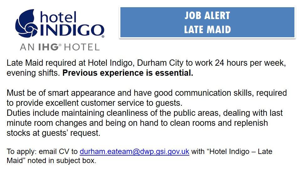 Jcp In Durham Tees على تويتر Late Maid Required Indigo Durham
