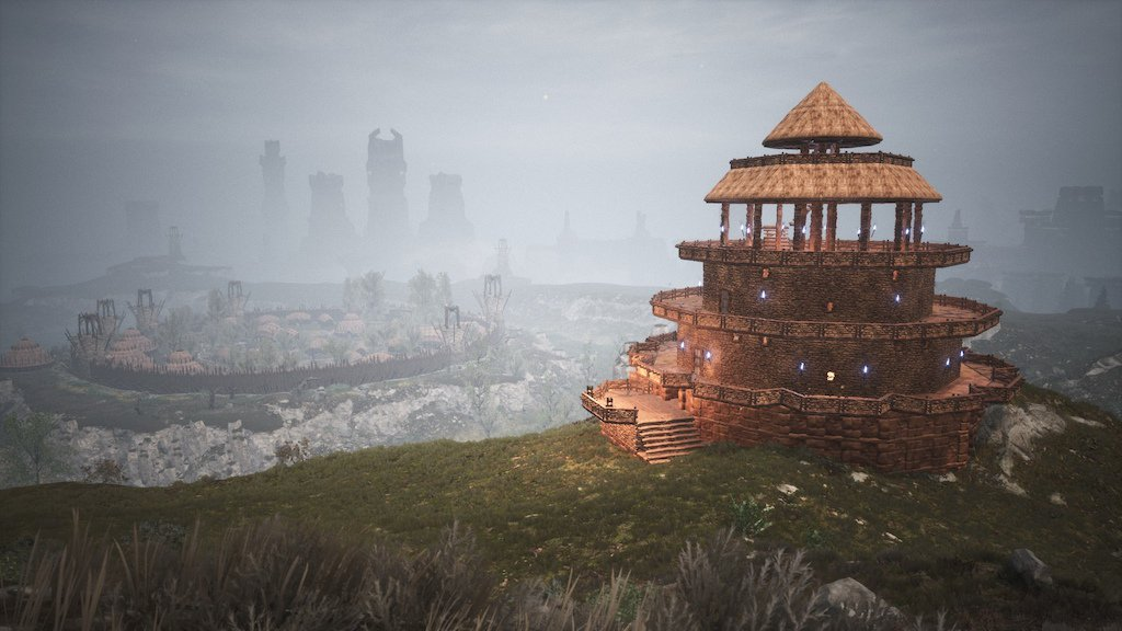 Wolf Amaterasu On Twitter Some Of My Base Designs On Conanexiles Conanexiles Official 1738 Server Still Need To Decorate Lighting Redo Texture On Witchfire Tower Into Black Reinforced Ice The