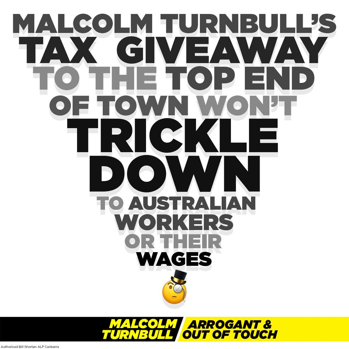 Trickle down economics doesn't work - it never has and it never will.   Can you help me spread the word by sharing this post? Turnbull needs to get the message: stop looking after billionaires and focus on battlers instead.