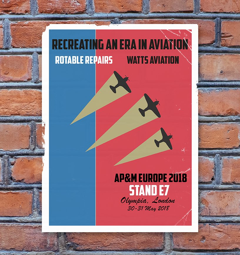 •RECREATING AN ERA IN AVIATION•   Visit @Rotable_Repairs &amp; @Wattsaviation on Stand E7 at @apm_expo Olympia London 30-31 May 2018 for your Aircraft Wheel, Brake &amp; Tyre requirements. Stand E7 #london #aviation #avgeek #ap&amp;m #airlines #mro #regional #commercial #bizjet #tyres<br>http://pic.twitter.com/UnqDkUzlRK