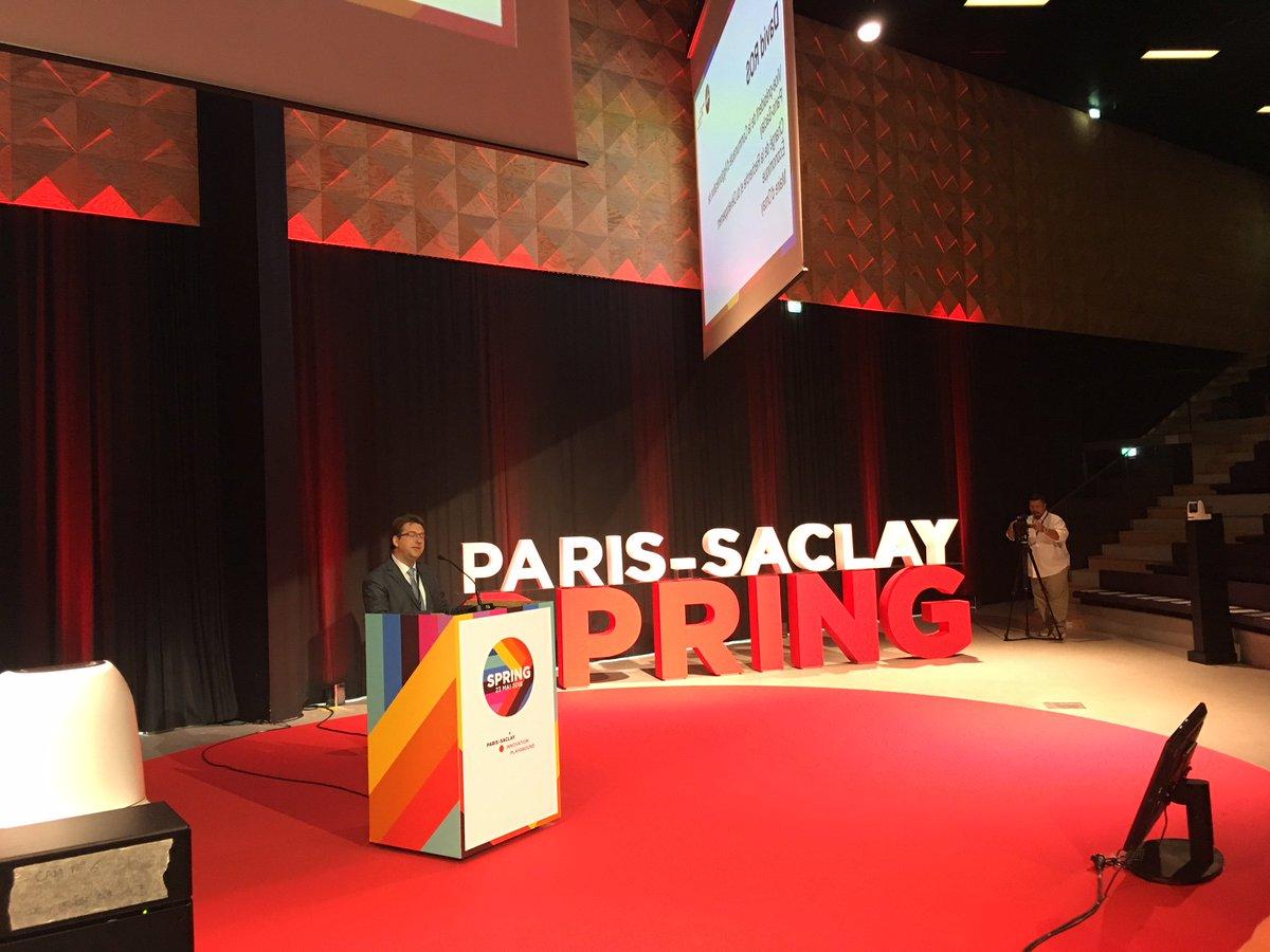.@DavidRos_91, lors de l'ouverture de #ParisSaclaySpring, met en avant la coopération entre partenaires de #ParisSaclay pour la réussite du cluster. L'union fait la force ! 🤝 https://t.co/EdjfblzNQV