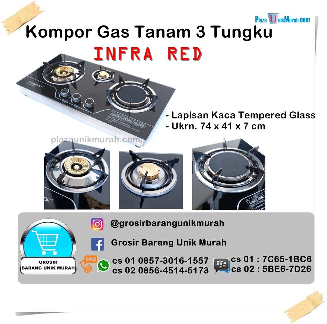 Kompor Gas Tanam 3 Tungku