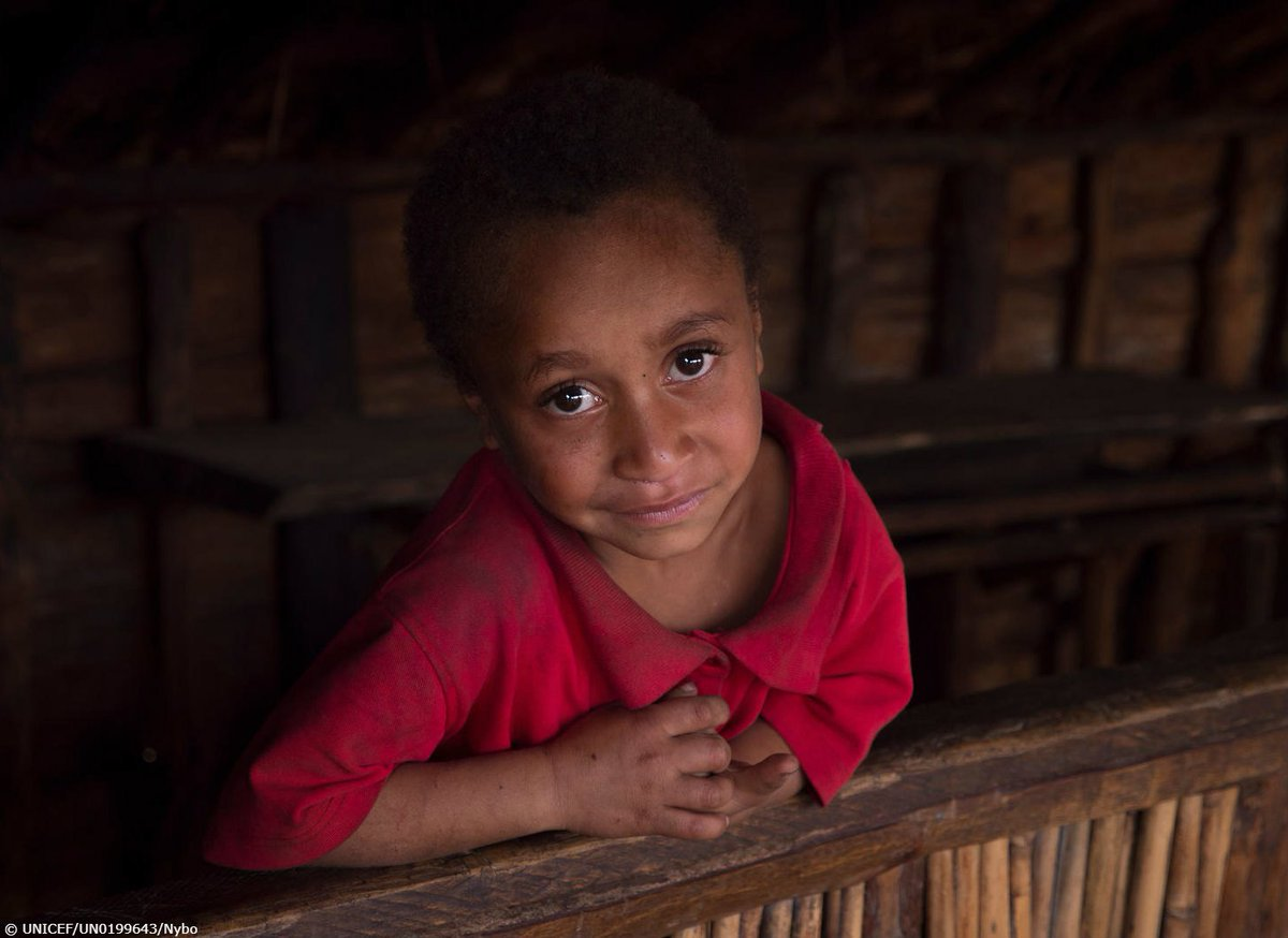 Jay jay, 5, smiles after being vaccinated by unicef
