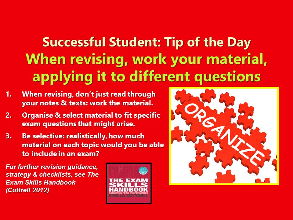 #SuccessfulStudent When revising for exams, activate yr thinking processes by working yr material! #exam #exams #revision #revising #amrevising #Students #student #studygram #study #studentlife #WednesdayWisdom #amlearning #unilife #uni<br>http://pic.twitter.com/HJI6AJaThD