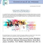 Image for the Tweet beginning: [Communiqué de presse] Grand concert