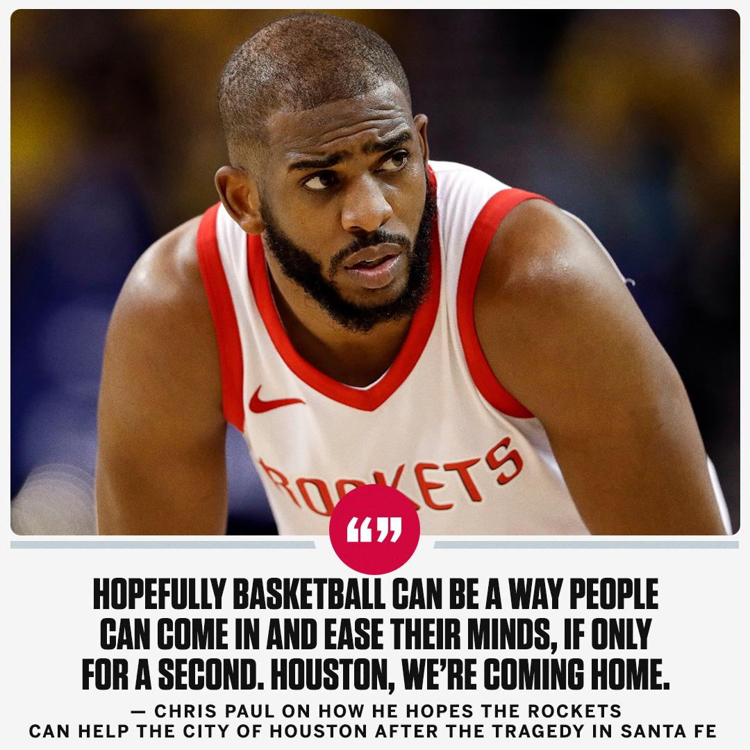 Chris Paul hopes the Rockets can do their part for the city of Houston following the tragedy in Santa Fe. https://t.co/VHFr0eA97f