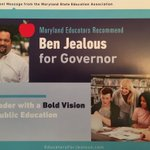 Arriving in mailboxes of educators across Maryland this week. Ready to win with @BenJealous and @SusanWTurnbull #EducatorsForJealous #MDAppleBallot