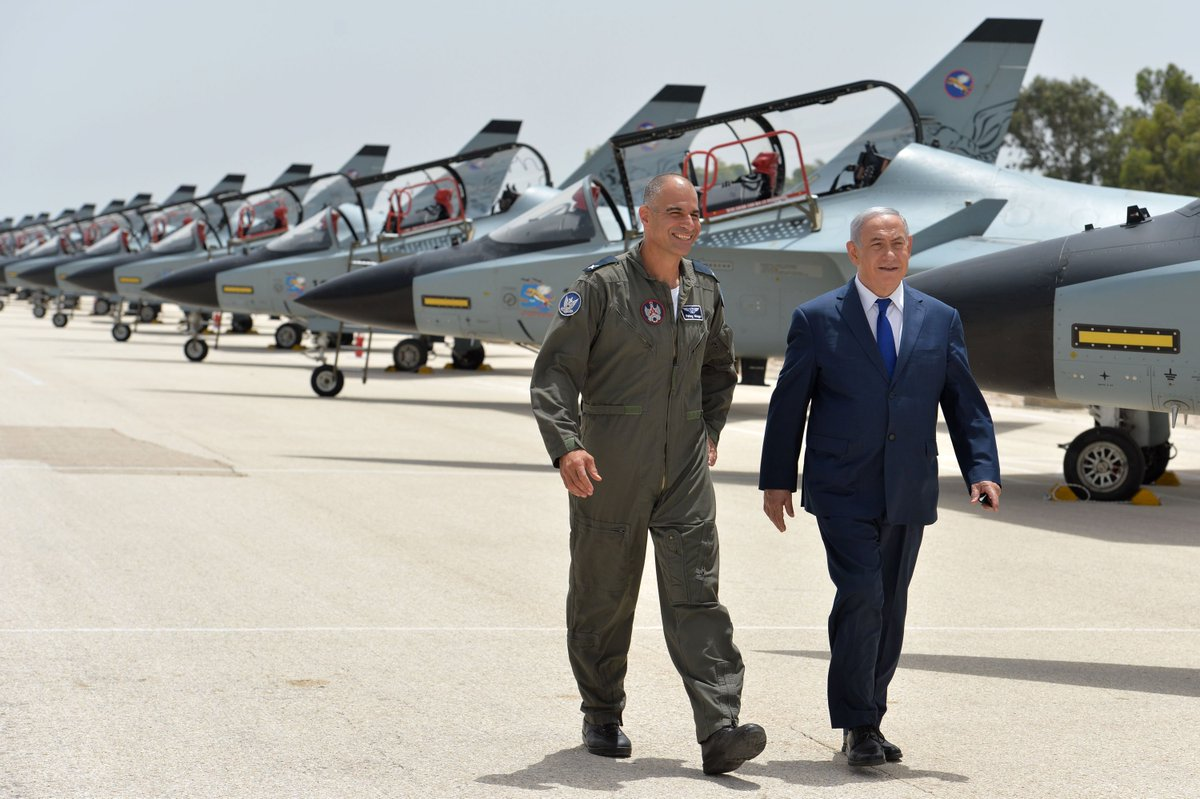 We will not let Iran establish military bases in Syria and we will not let Iran develop nuclear weapons.  The Israeli Air Force plays a crucial role in implementing this policy and it has done so consistently and effectively now for the past several years.
