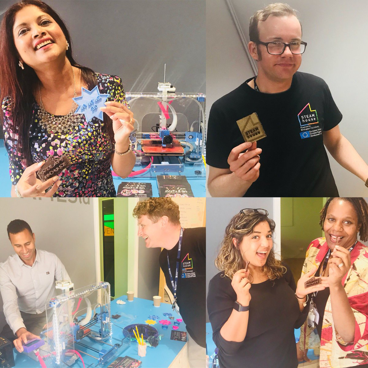 """The launch of the new BCU makerspace """"STEAMhouse"""" """"Driving Innovation through Creativity"""" Avatar3D Printing continues Innovation with STEAMhouse UK team of technician, Business consultants, advisors &amp; SME's @STEAMhouseUK @claytonshaw @WISDOMTARR<br>http://pic.twitter.com/ym3lmNK9tm"""
