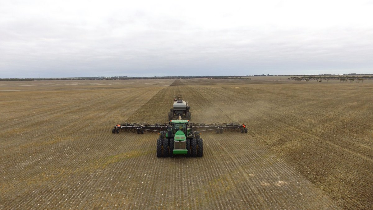 #plant18 done,had some rain to finish off & should all come germinate,650 eng hours thanks to our staff, great job 👍🏻⛈🇦🇺