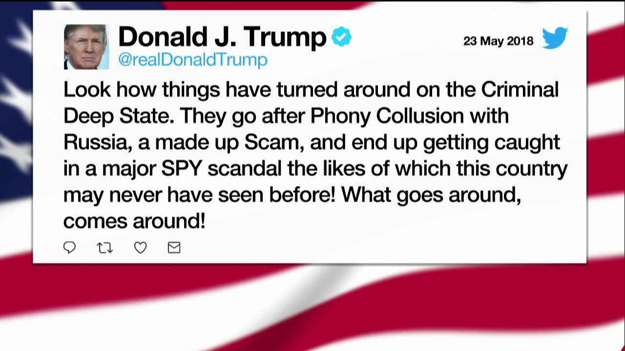Moments ago President @realDonaldTrump tweeted about the 'deep state' https://t.co/uPetCCHKXX
