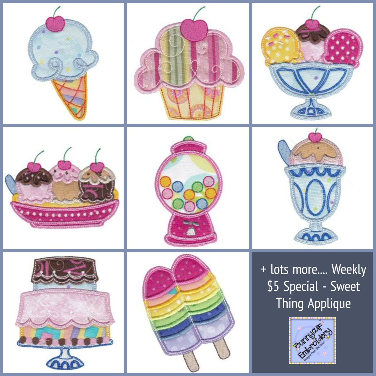 Bunnycup Embroidery On Twitter Weekly 5 Special Sweet Thing
