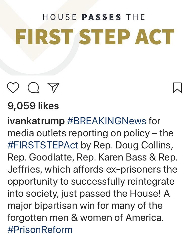 """Dear @IvankaTrump, In response to your Instagram post below... As someone who """"reports on policy"""", I look forward to covering #FirstStepAct on @MSNBC  Would you like to join me? Or encourage @realDonaldTrump to discuss it as opposed to applauding someone who compares BLM to KKK?"""