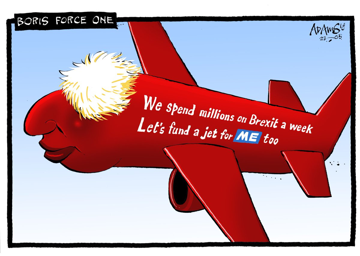Our @Adamstoon1 @EveningStandard on Boris's new plane