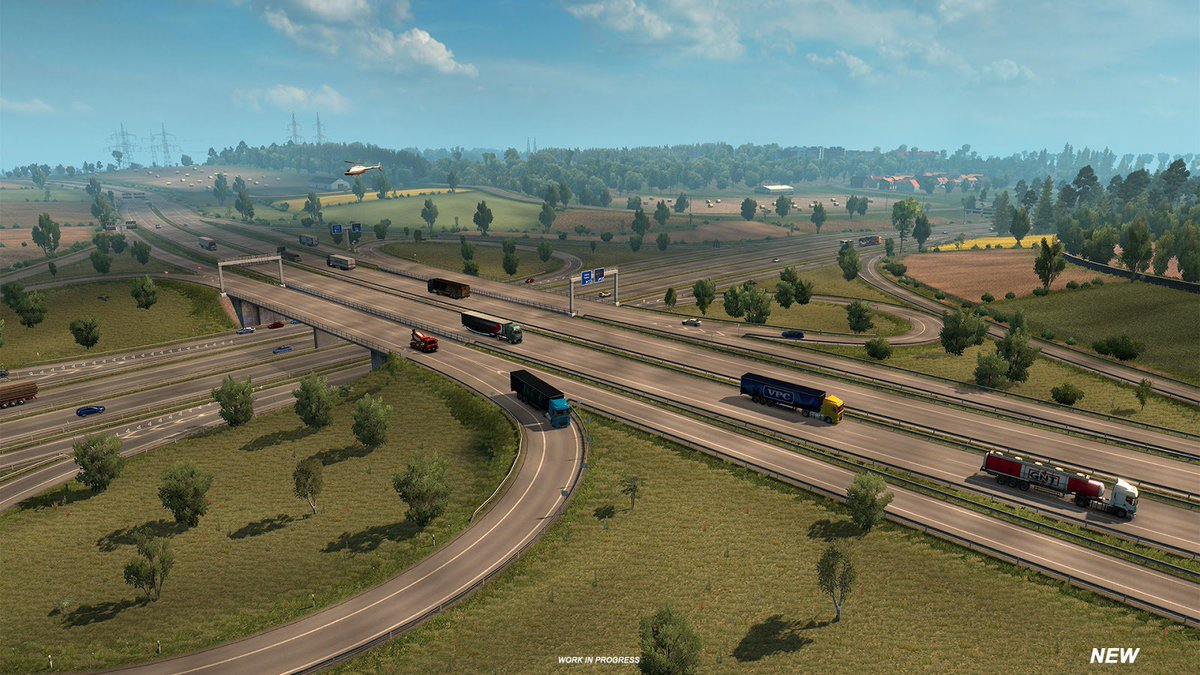 &quot;You must be wondering already what we have in store for  #ETS2 1.32&quot;  &quot;We are happy to reveal that a small, passionate team of map designers is already working on retouching The oldest regions we built years ago Germany!&quot;   via: @SCSsoftware -   http:// blog.scssoft.com/2018/05/revisi ting-germany.html &nbsp; … <br>http://pic.twitter.com/I6BM9DnyXV