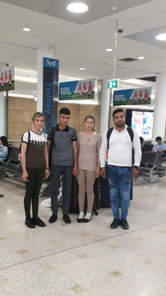 test Twitter Media - For any supporters following the story of @NihadBarakat , our young #Yazidi ambassador who has been granted asylum in #Australia, here's an image that will warm your hearts. She's landed Down Under with her sister and 2 brothers. Next stop #Toowoomba, #Queensland. Their new home! https://t.co/iWNGBmcLRW