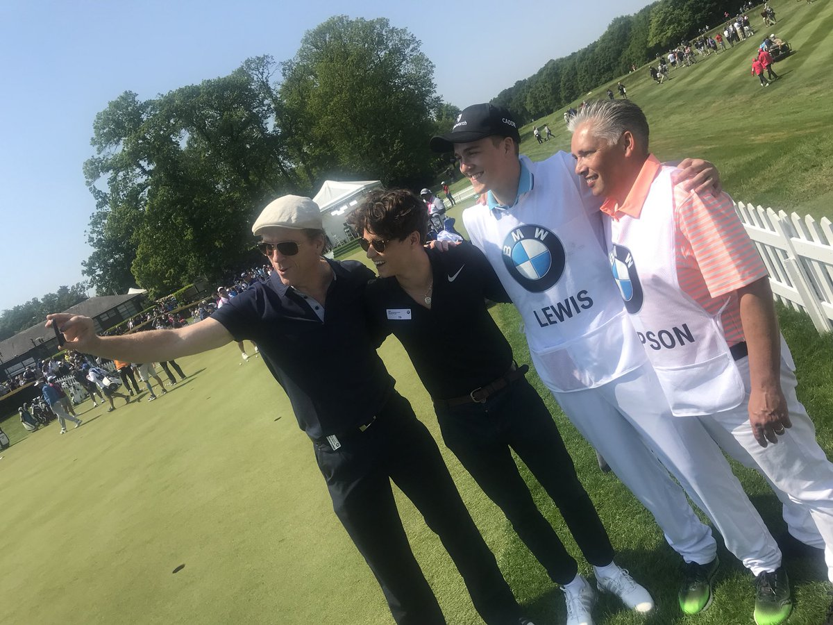 Cheer on @TheVampsBrad in the @BMWPGA golf competition today. He's playing with @lewis_damian @thomasbjorngolf &  ⛳️@lucapasqualino