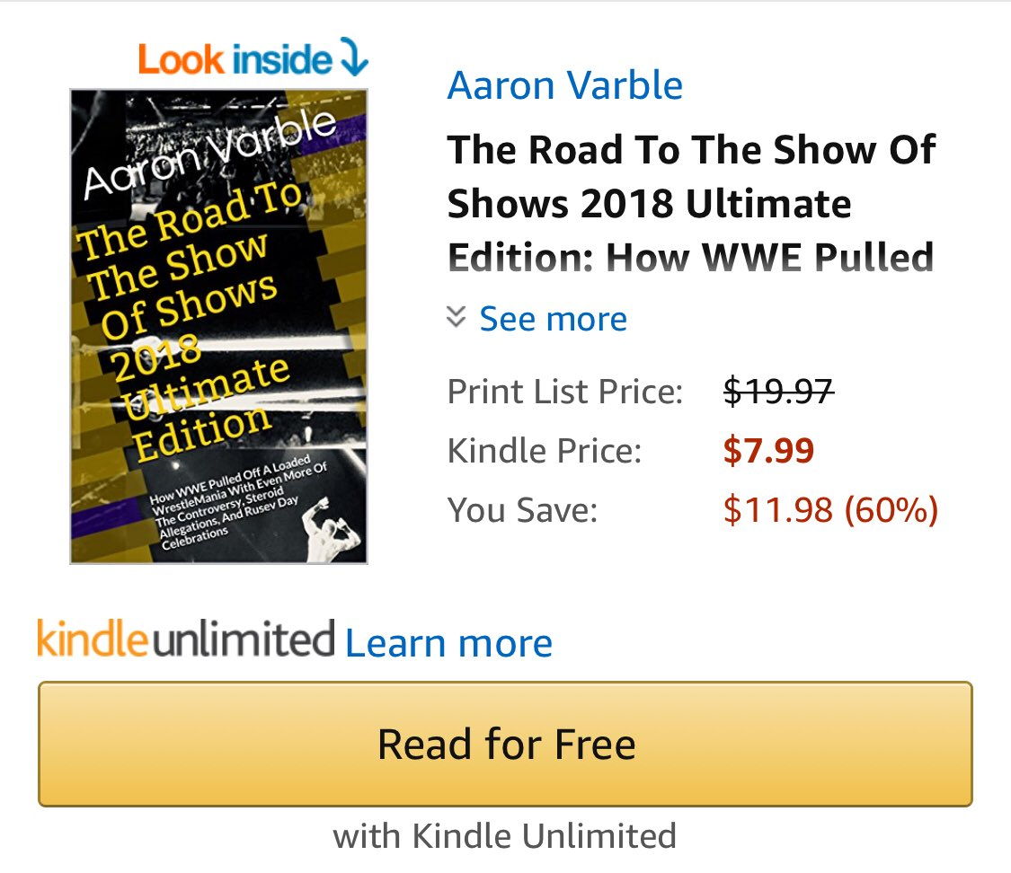Aaron varble thevarble twitter it on kindle and paperback or both httpsamazonroad show shows 2018 ultimate ebookdpb07c4wlqhxrefnodl picitter9d2qpyr8xo fandeluxe Image collections